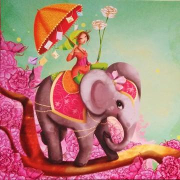 Éléphant et la fille