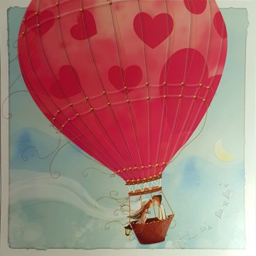 Félicitations mariage : montgolfière (sans texte)