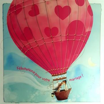Félicitations mariage : montgolfière