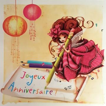 Joyeux anniversaire écriture