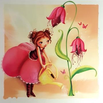 Une fleur qui pousse