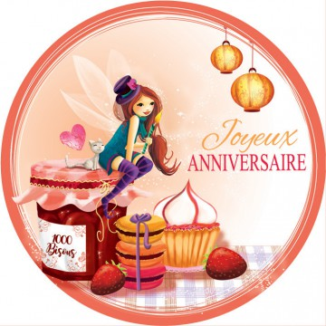 Anniversaire confiture (orange)