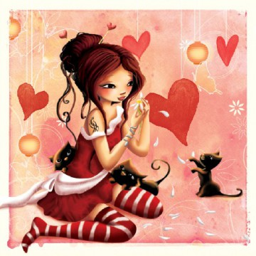 La fille au chat