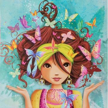 La fille aux papillons