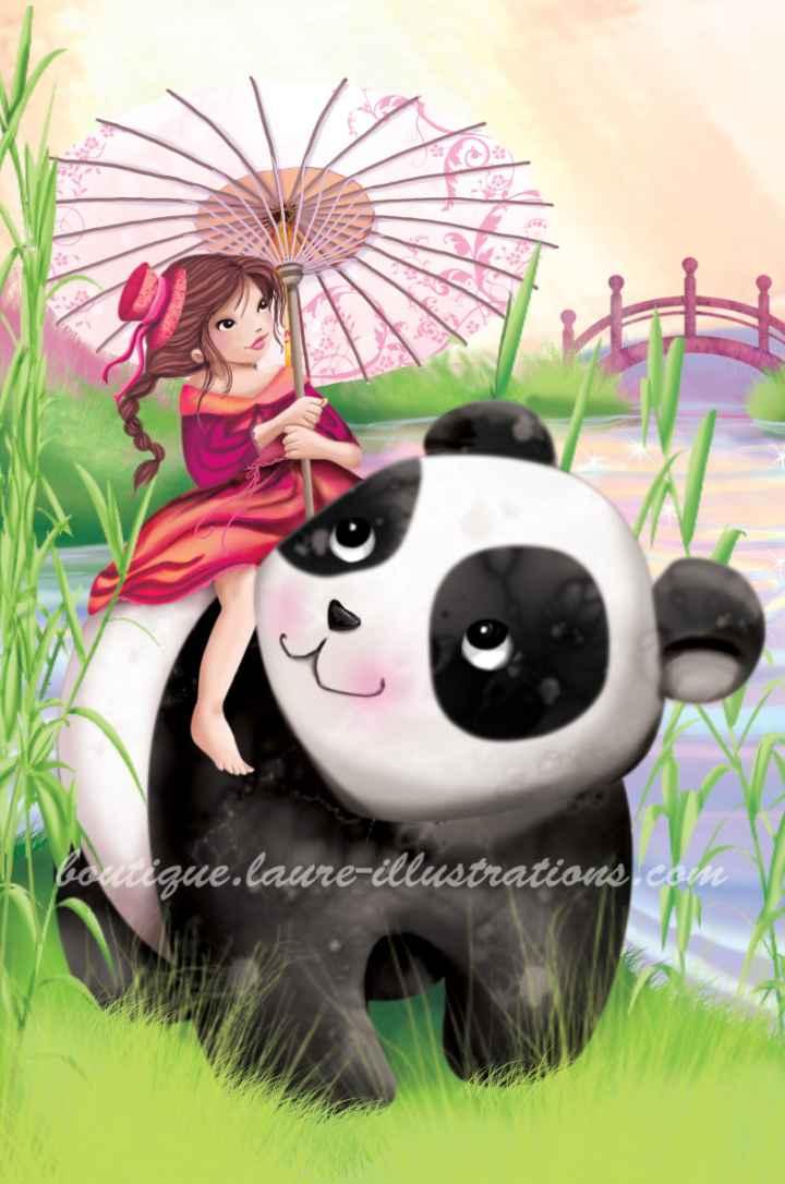 A dos de panda