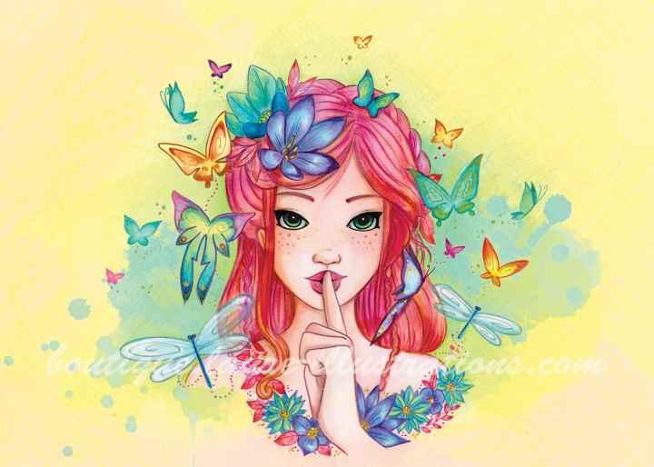 Chut - Aquarelle coloriage - horizontal