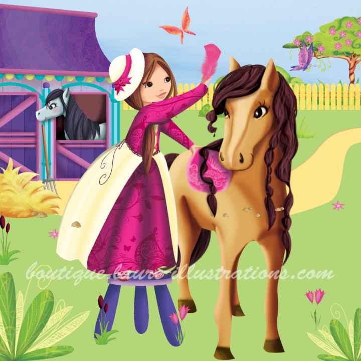 B66 :: Coiffeuse de cheval