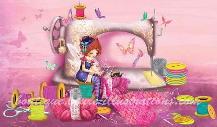 Couturière - Rose horizontal