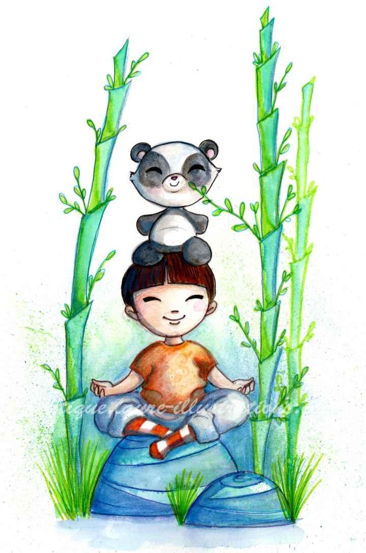 Dans les bambous garçon - vertical