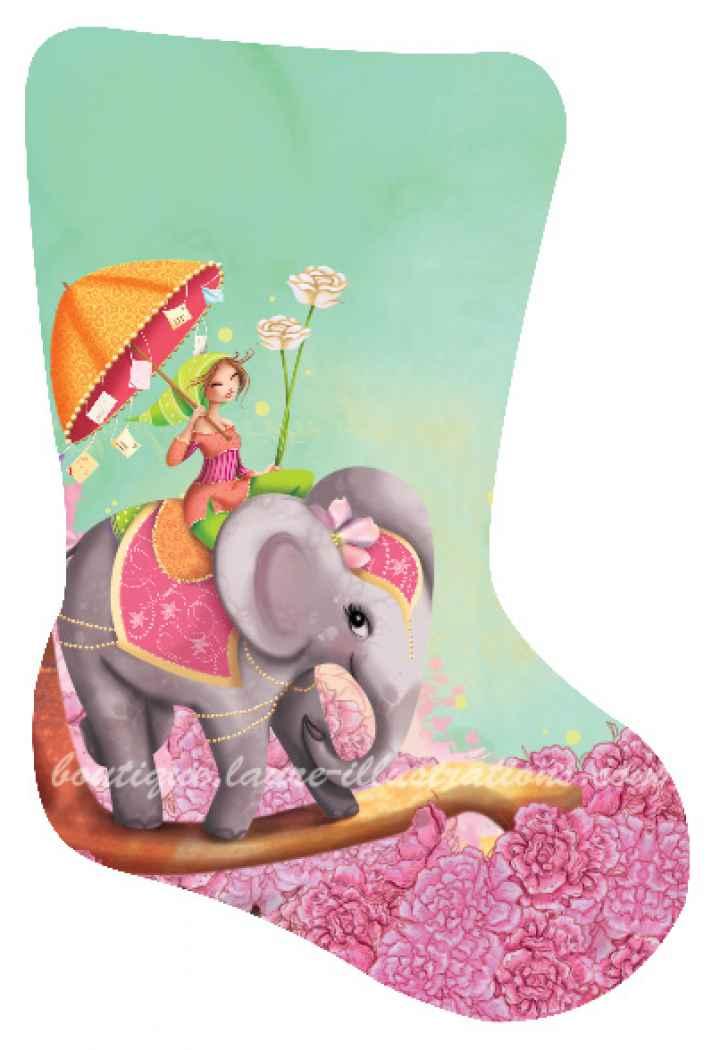 B18 :: éléphant et la fille (horizontal)