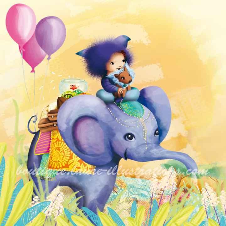 A29 :: Eléphant aux ballons