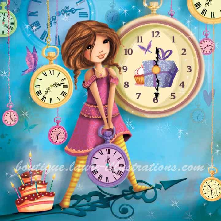 A02 :: Fille à l'horloge