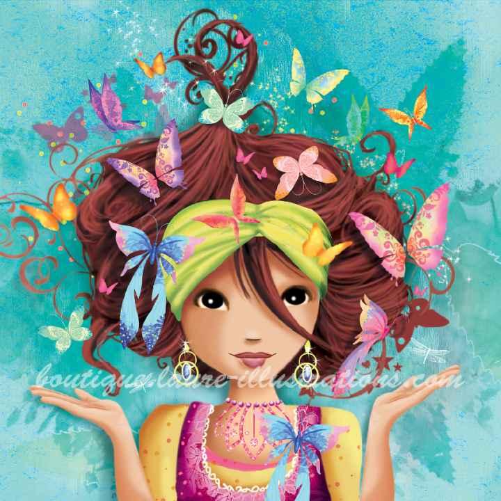 A01 :: Fille aux papillons