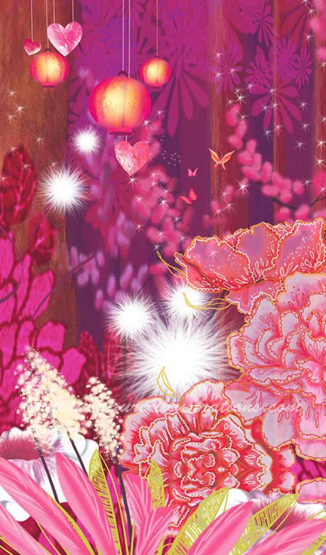Forêt rose sans personnage (Vertica) - DOS