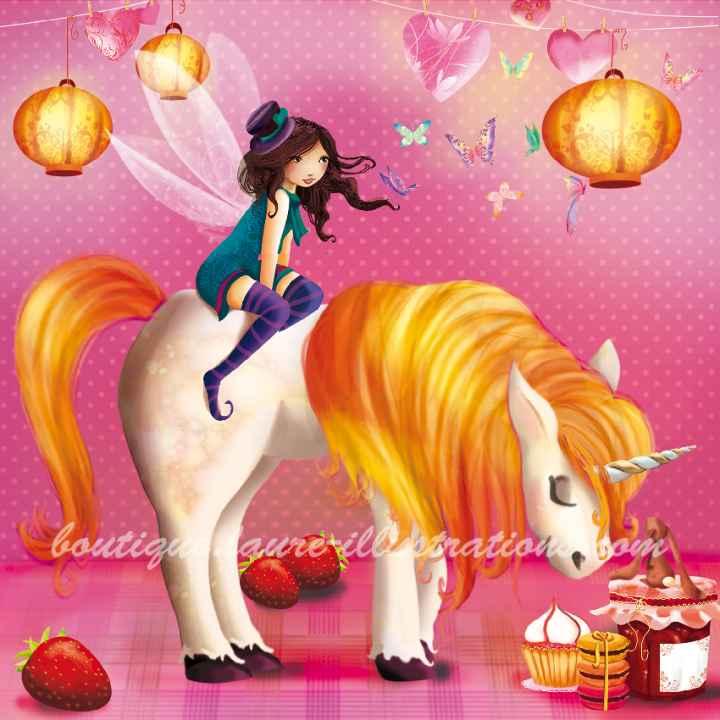 A88 :: Licorne - Rose
