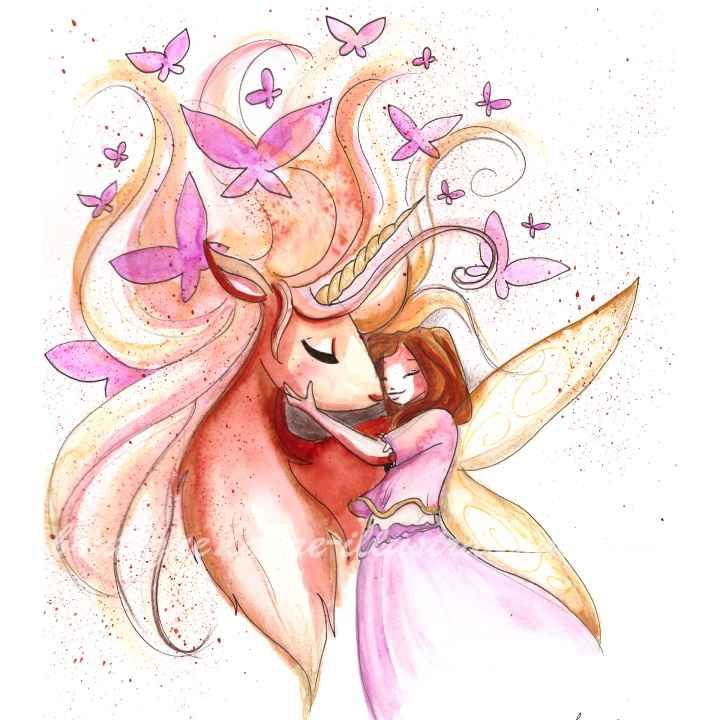 B98 :: Licorne et papillons