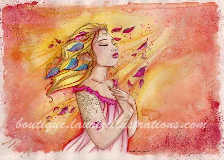 Lumineuse - Aquarelle du cahier de coloriage - Horizontal