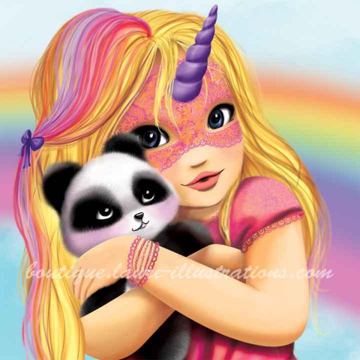 C22 :: Masque licorne et panda