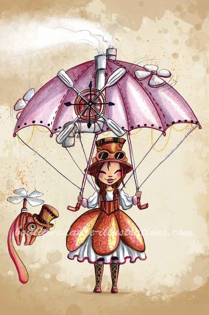 E05 :: Miss parachute steam punk - vertical