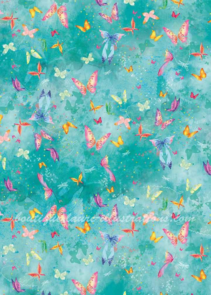 Motif : La fille aux papillons
