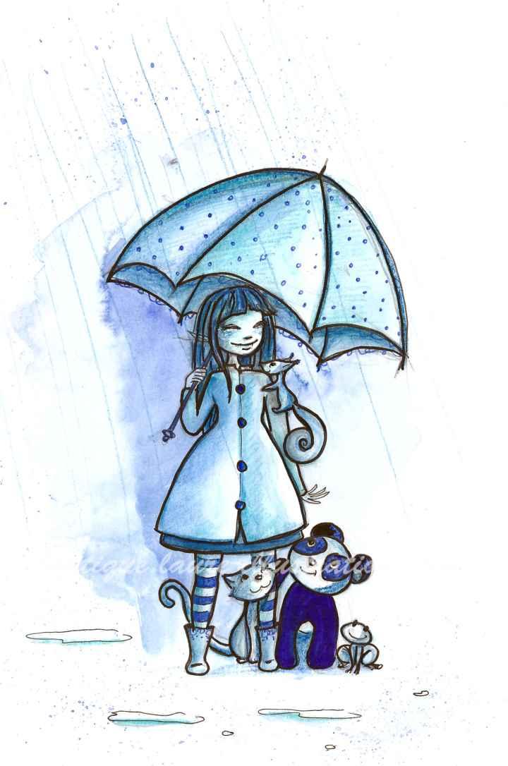 Partage de parapluie