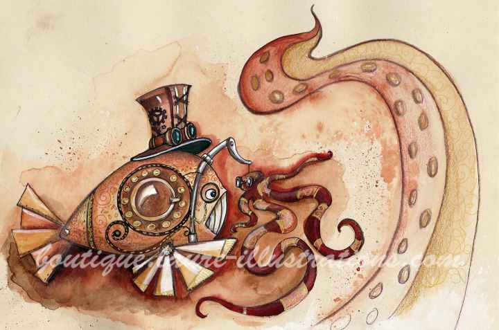 Poisson steam punk (horizontal)