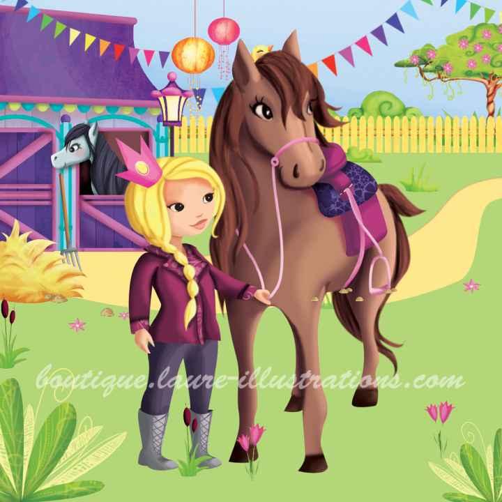 B68 :: Princesse et cheval