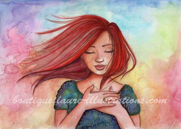 Rousse - Aquarelle du cahier de coloriage - Horizontal