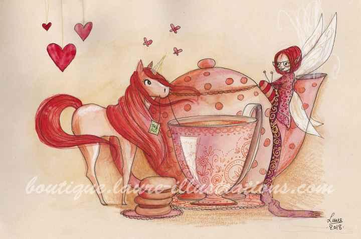 Un thé avec une licorne (horizontal)